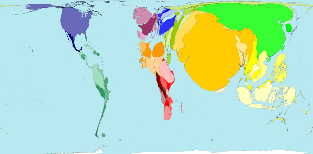 Worldmapper Archive: The world as you\'ve never seen it before