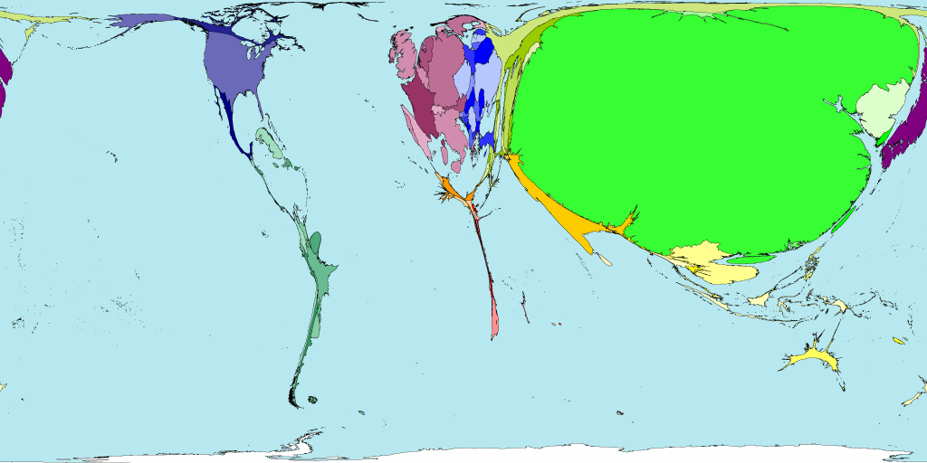 Worldmapper the world as youve never seen it before not religious sciox Images