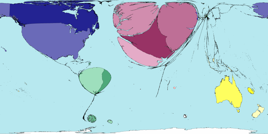 Worldmapper archive the world as youve never seen it before this smaller map removes the countries where dutch is dominant this map therefore only shows 37 of all speakers of dutch the territories omitted are the gumiabroncs Image collections